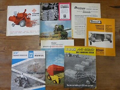 Combine and Harvesting machinery old brochures