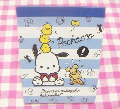 Sanrio Pochacco Friend Mini Memo Pad / Made in Japan Stationery 2018