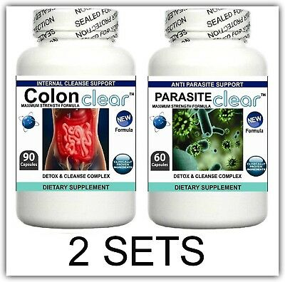 2 Parasite Cleanser Pills Detox Colon Liver Cleanse Flush Clean Gut Digestion