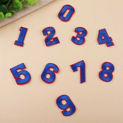 Arabic Number Badge Digit Iron on Patch 0-9 Embroidered Crafts DIY Hat Appliques