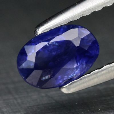 Oval Natural Medium Blue Sapphire Madagascar, Heated Only 0.62ct 6x4mm