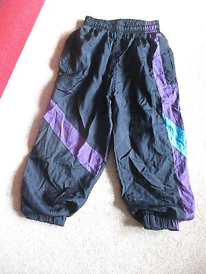 KID'S VINTAGE SHELL SUIT BOTTOMS TRACKSUIT CHILDREN'S WORLD age 3-4 yrs