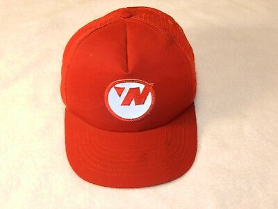 Vintage 2000's Northwest Airlines   Red Mesh Baseball Cap w/ reflective NWA logo