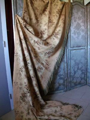 Antique French Tapestry Chateau Fringed Drape