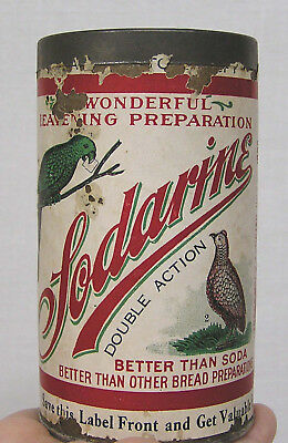 Vintage Advertising Sodarine Full Can Parrot & Quail on Label Sea Gull Specialty