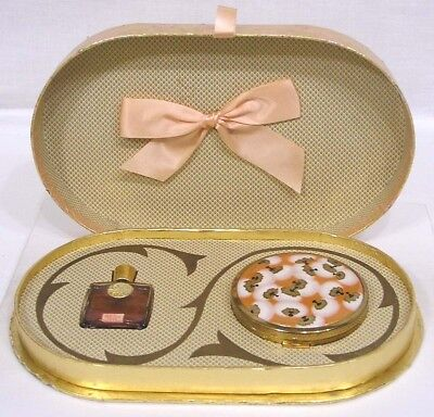 Vintage COTY Perfume and Powder Compact Set in Presentation Box 1930s