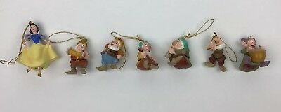 Disney Snow White and The 6 Dwarfs Ceramic Christmas Tree Ornaments  (no Grumpy)