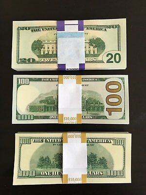 22.000 PROP MONEY REPLICA 100s 20s 100New Style All full Print For movie Video E