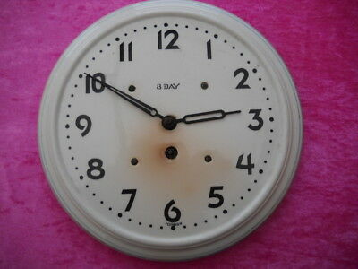 A Nice 8 Day Vintage Ceramic Wall Clock In G.w.o.