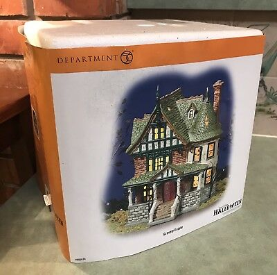 Department DEPT 56 Snow Village HALLOWEEN Gravely Estate House 805674 Mint