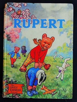 Vintage Original 1958 Rupert Bear Annual, Price Unclipped 5/-