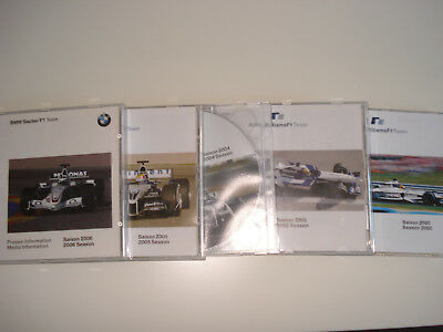 BMW Williams F1 Team u. BMW Sauber  ,Presse CD Saison 2000,2002,2004,2005,2006