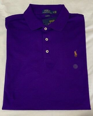 Genuine Polo By Ralph Lauren Polo Shirt Dark Purple Classic Fit Soft Touch  Xl