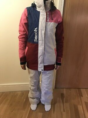 Bench Ski / Snowboard Jacket - Size S / Size 8-10 - White / Red / Pink