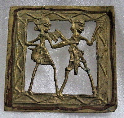 Old Brass Indian Tribal Bastar Figure's Cutting Work Gril Stand Decorative
