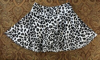 Justice Animal print White, black and silver Skort Size 16