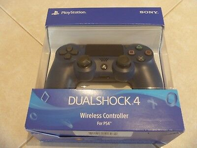 PS4 DualShock Sony PlayStation4 Wireless Controller Midnight Blue New Sealed