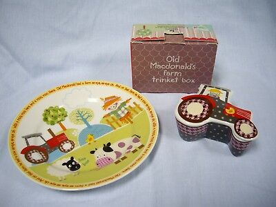 Queens Little Rhymes Old McDonald's Farm Plate & Trinket Box (Boxed)