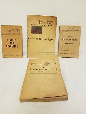 Lot Of Four War Department Technical And Field Manuals- WWII era pistols, sniper