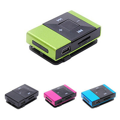 Mini Portable USB 2.0 Clip Digital MP3 Music Player Rechargeable Support 8G V1W8