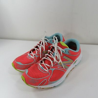 the best attitude cfc6d 5dff6 WOMENS NEW BALANCE RC1400 WR1400CW CORAL/TEAL ROAD RUNNING SHOES SZ 7.5