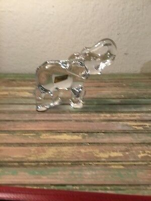 "Baccarat Elephant Figurine 6 1/4"" Tall with Trunk Up No Box"