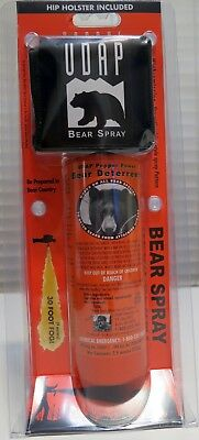 Udap 30Ft 7.9Oz Bear Pepper Spray / Repellent / Deterrent With Holster 12Vhp New
