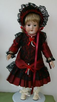 50/52cm SMART SILK FRENCH STYLE DRESS FOR YOUR ANTIQUE OR REPR0  DOLL