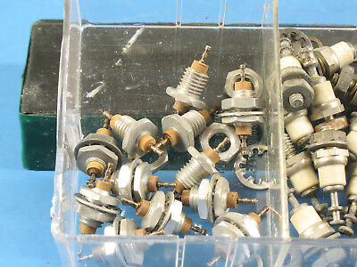"1 Lot 12pcs Chassis Panel Mount Phenolic Feedthroughs 1/4"" & Hardware"