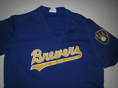 Vtg 1990's Milwaukee Brewers MLB Majestic #12 Jersey Women's Small / YOUTH XL