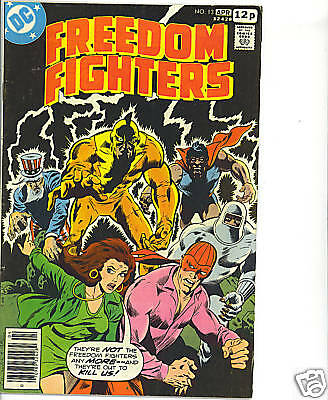 Freedom Fighters #13 vg+ 1978 Phantom Lady British cvr price DC Comics US comics
