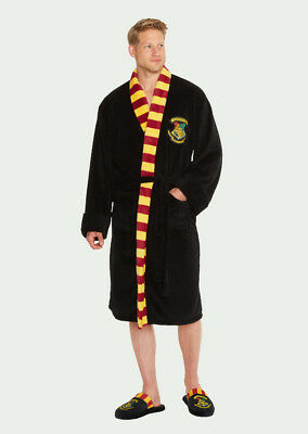 Harry POTTER Accappatoio Pantofole di Hogwarts Grifondoro slytherine in Pile Accappatoio Groovy
