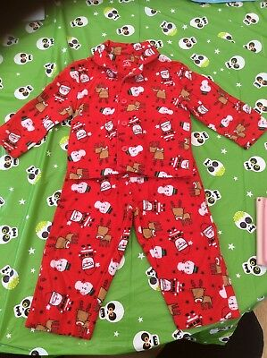 Baby Boys Primark Traditional Brushed Cotton Red Christmas Pjs Pyjamas 9-12 Mnth