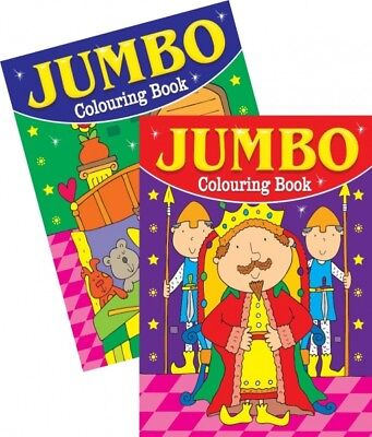2 x A4 150 PAGE  JUMBO CHILDREN'S COLOURING BOOKS BOOK FUN PICTURES LEARNING 3&4