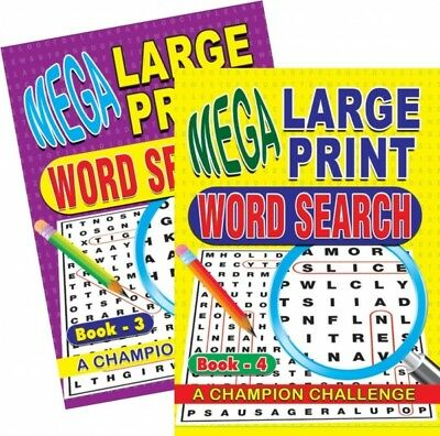 2 X A4 Mega Large Print Word Search Puzzle Book Books 258 Puzzles A4 Pages 3 & 4