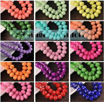 Wholesale 4mm 6mm 8mm 10mm Jelly Like Rondelle Faceted Crystal Glass Loose Beads