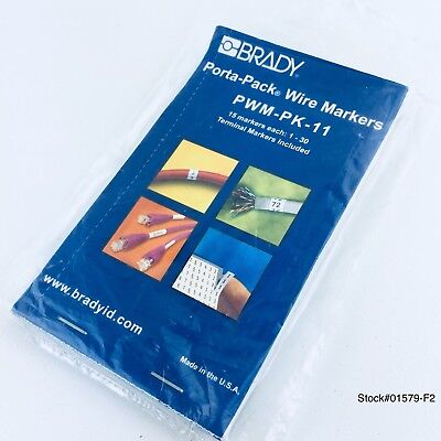(1 PACK) Brady PWM-PK-11 Porta-Pack Wire Markers Made In USA NEW *FREE SHIPPING*