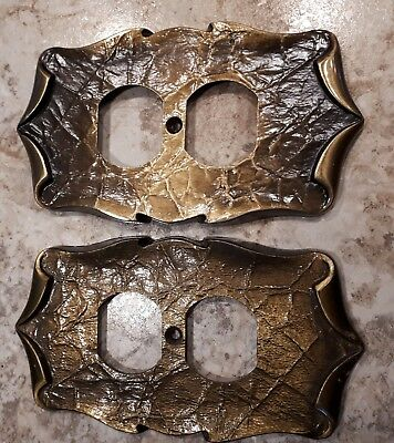 Set of Two - NEW  Amerock Carriage House Outlet Covers Plate Antique Brass
