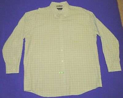 GREG NORMAN Men's XL Casual or Dress Button-Front L/S Shirt Checked Cotton ~LQQK