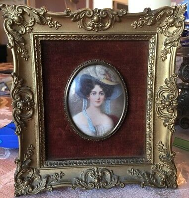 Cameo Creation Large Framed Woman (Unknown Lady By M. M. Daffinger.).