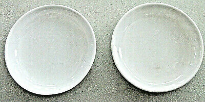 """Two 2.75"""" HAVILAND & Co Limoges France H&C L White Round BUTTER PAT China Dishes"""
