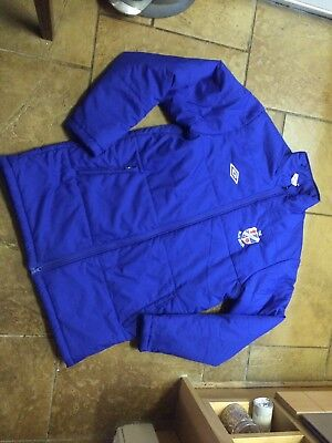Cowdenbeath FC The Blue Brazil Quilted Jacket Coat Umbro Large
