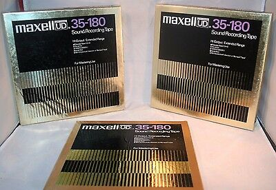 MAXELL UD 35-180 Metal RECORDING TAPE 3600' Good Used Cond Listing Is One Tape