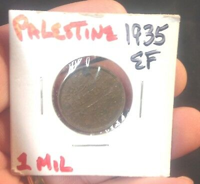 Palestine 1 Mil, 1935, Key date! Only 704,000 minted, rare, Bronze coin