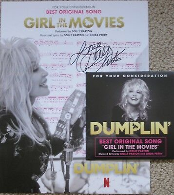Dumplin' Fyc Original Song Cd Girl In The Movies Dolly Parton Signed Promo Flyer