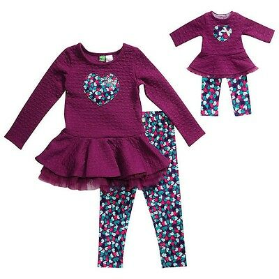 "NWT Purple Girls Dollie & Me Matching Doll outfit fits 18"" American Girl Size 8"