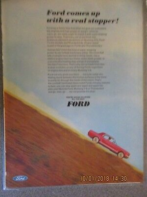 1966 Ford Mustang GT Hardtop COLOR Advertisement From Vintage Magazine 16 of 69