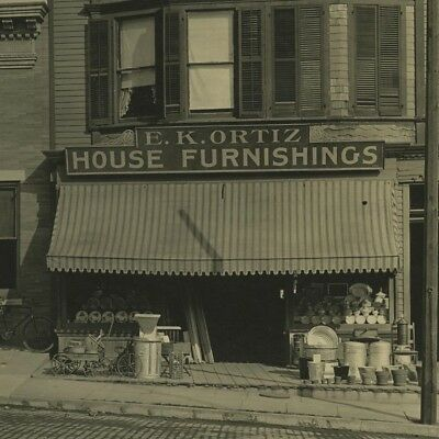 Antique 1900's Large Photo,House Store,Hook & Ladder Fire Station Mamaroneck,NY