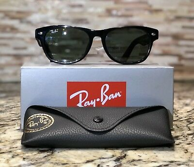 d376b2d69d7 Ray-Ban Wayfarer Sunglasses RB2132 901 52mm Glossy Black Frame G-15 Green