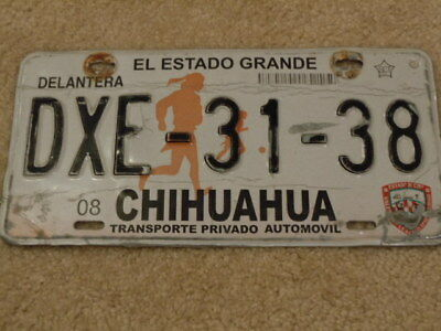 Mexico Chihuahua License Plate - Dxe-31-38